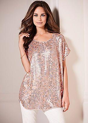 Sequin Embellished Tunic #kaleidoscope #summer #fashion