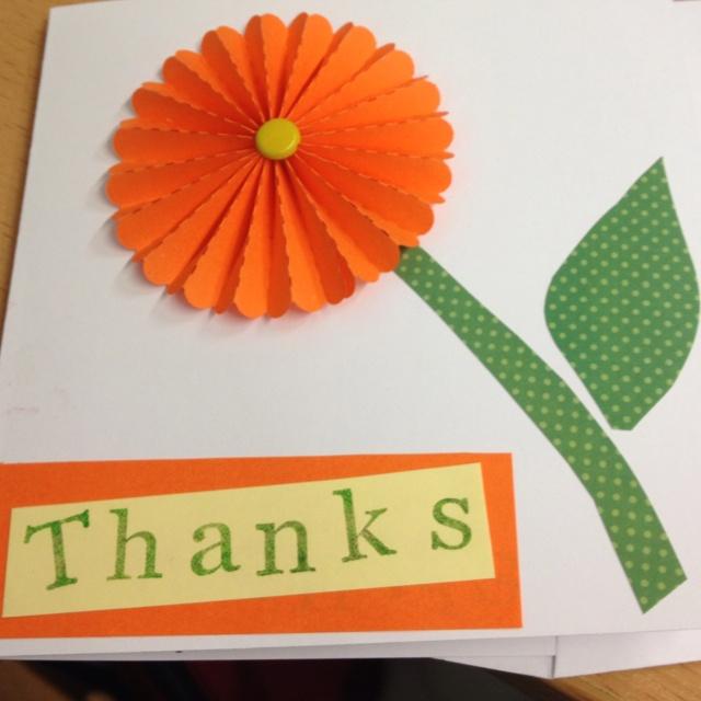Card Making Ideas For Kindergarten Part - 29: Thank You Card · Thank You CardsCard DesignsPapercraftCardmakingCard  IdeasKindergartenDiy ...