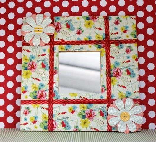 adhesive fabric decorated mirror docrafts - Decorated Mirror