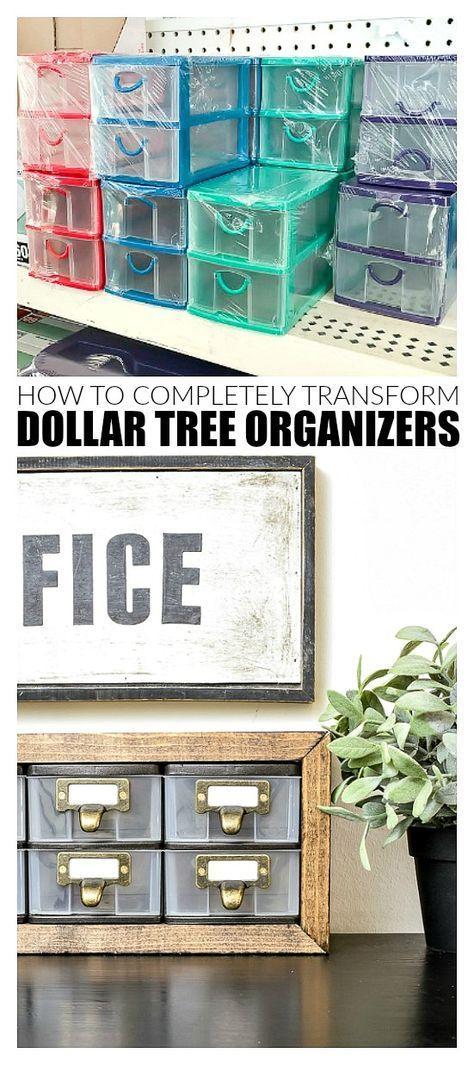 Transform Dollar Tree Organizers In a Few Easy Steps