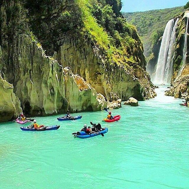 Cascada Tamul San Luis Potosi - Disfrútala en Grupo viajando por Transpais Turismo #RentaUnAutobus y #ViveViajando