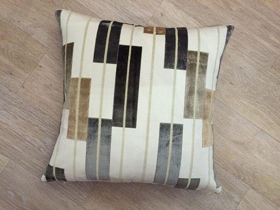 Raised velvet design on cream linen background  by MoGirlDESIGNS