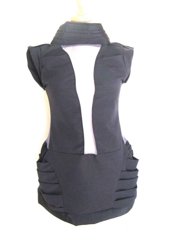 short black & seethrough dress (a)