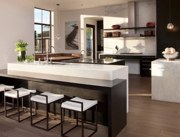 Exceptional 20 Modern Kitchen Designs With Black Countertops Part 29