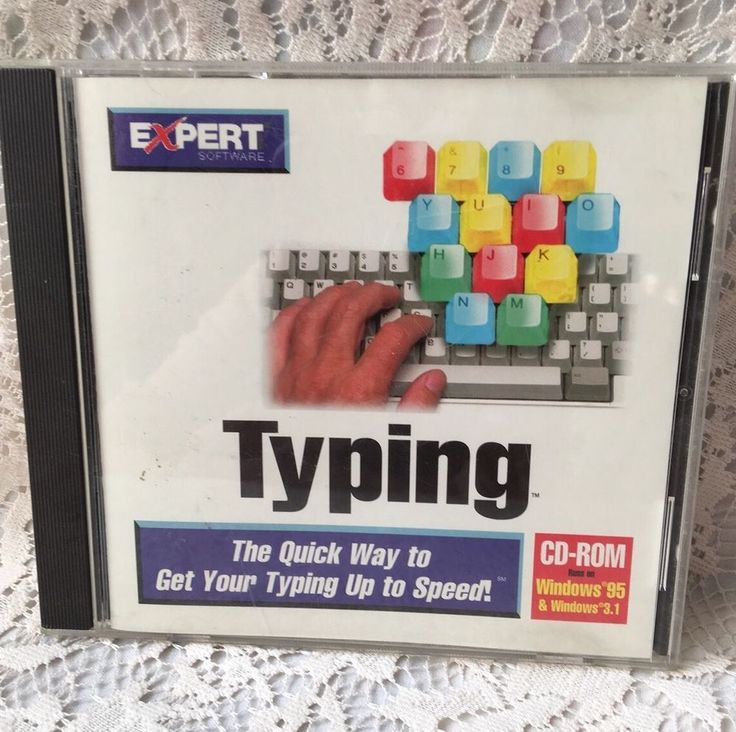Quick Typing Speed Program CD-Rom Windows 95 & 3.1 Expert Software Educational #ExpertSoftware