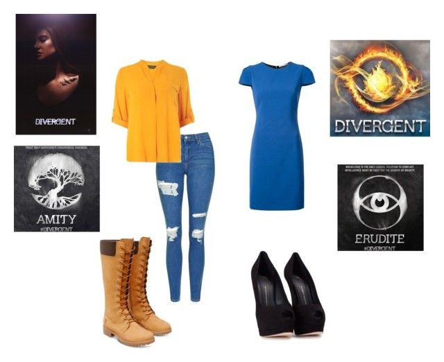 """""""Erudite and Amity: Divergent"""" by gabriellebear ❤ liked on Polyvore featuring Topshop, Dorothy Perkins, Timberland, Alice + Olivia, Giuseppe Zanotti, divergent, amity and erudite"""