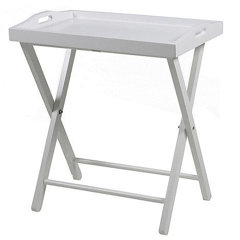 Debenhams White 'Vinny' tray table | Debenhams
