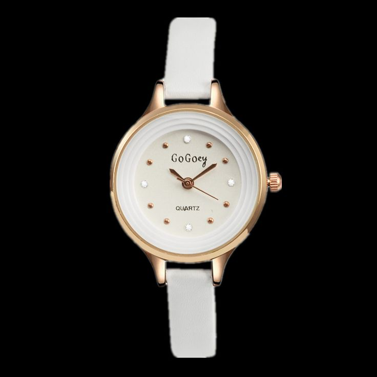 Gogoey Brand Small Leather Strap Quartz Watch Women Rose Gold Watches Luxury Crystal Watch Hour montre femme relogio feminino