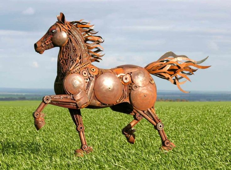 Jordan Sprigg - Red Thunder - Sculpture Found Items