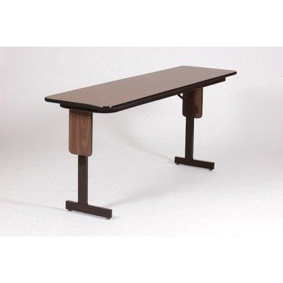 """60"""" W x 18"""" D Panel Leg Folding Seminar Table Finish: Black Granite by Correll, Inc.. $179.99. SP1860PX-07 Finish: Black Granite Features: -Panel leg folding seminar table.-Knife-lock is mounted on the back of the leg upright, for maximum comfort, and unobstructed leg room.-Tables fold easily for handling, and set up quickly with a solid snap.-Attractive panel leg design dresses up any meeting room or office.-Legs are rectangular steel tubing, with nylon leveling glides.-Allows t..."""