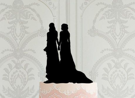 Lesbian Wedding Cake Topper Mrs Mrs same sex wedding gay wedding decoration ideas laser cut cake topper