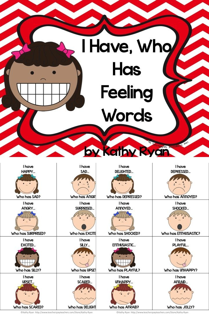 $ Are you tired of your students using the same boring feeling words like happy, sad, and angry? Help them develop stronger vocabulary to express feelings by playing the ever popular, I Have, Who Has game. There are 24 feeling words in this fast paced game. I've included both color and black and white copies for your printing needs.   Your students will be so happy, I mean--EXCITED, ELATED, and DELIGHTED to play, and you will be THRILLED at the increase in their feelings vocabulary!