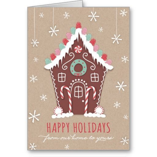Gingerbread House Holiday Card Christmas