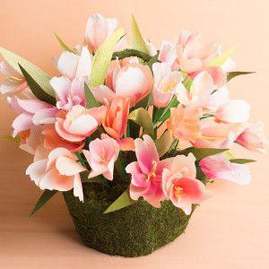 Paper Tulips Centerpiece | AllFreeHolidayCrafts.com