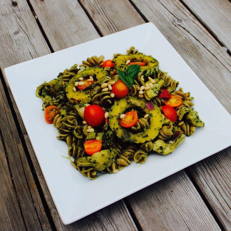 With Cherry Tomato Pesto Rotini. An upgrade on the classic pesto pasta ...