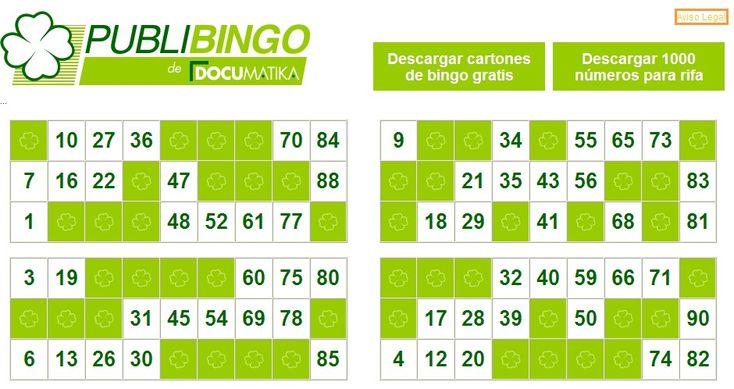Tecnología habitual: Más cartones de bingo para imprimir en casa
