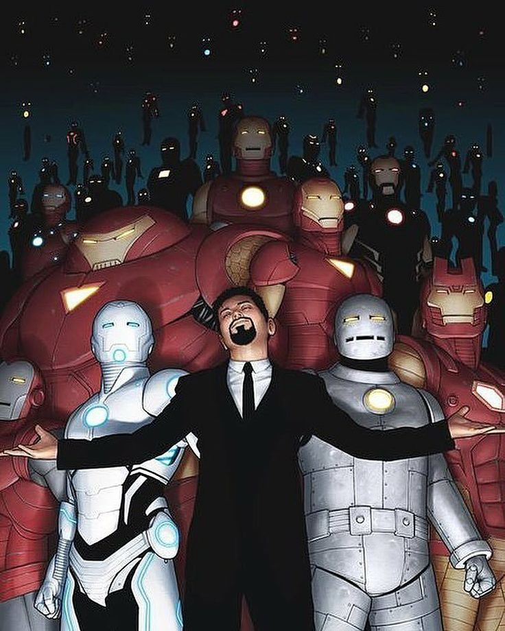 Tony Stark and His Iron Man Armors.........