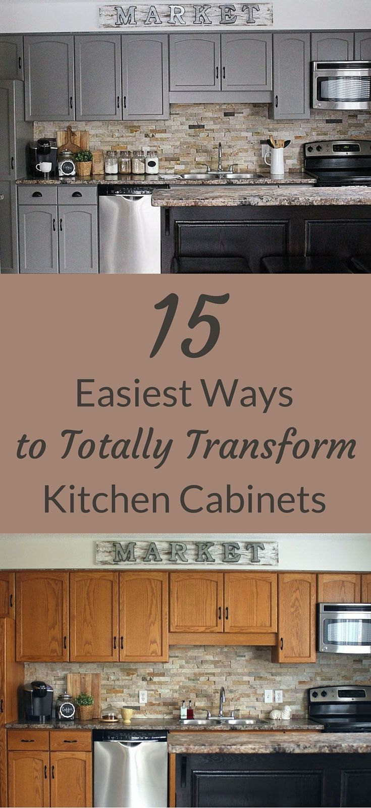 15 of the easiest ways ever to totally transform kitchen cabinets
