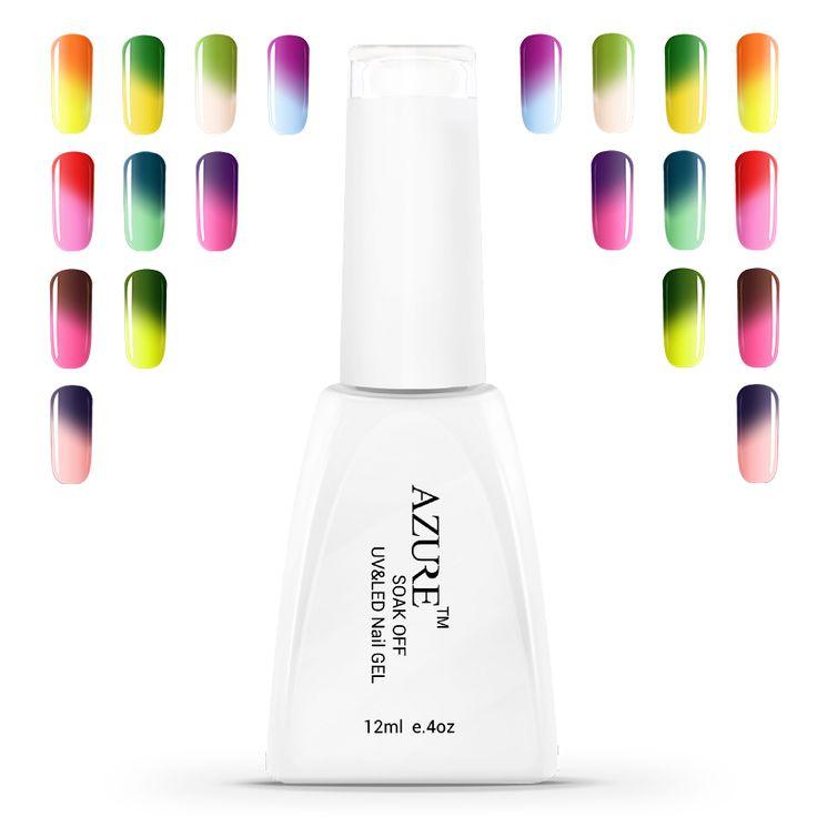 Azure Temperature Nail Gel Polish Change Chameleon Color UV Nail Polish Long-lasting Soak Off Gel Nail Varnish DIY Gel Nail Art