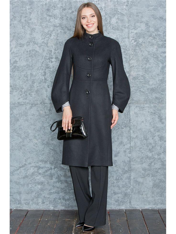 Пальто Levall. Цвет черный.