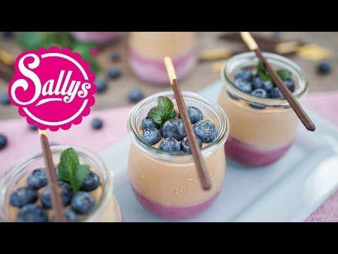 Blaubeer-Joghurt-Dessert mit Schokolade - Sallys Blog
