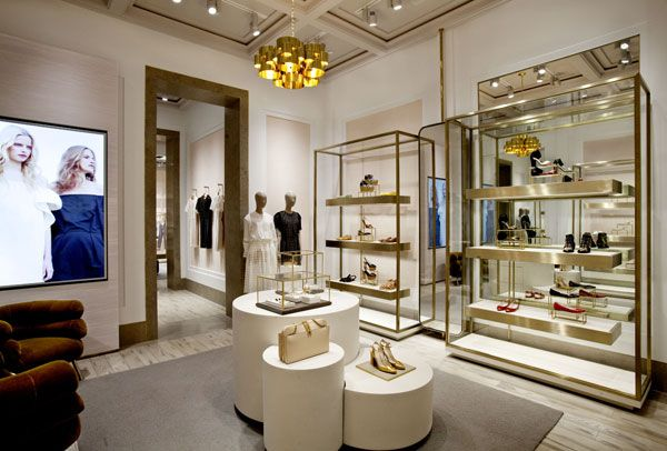 interior of the new Chloe store at 93 Greene St in Soho designed by creative director Clare Waight Keller