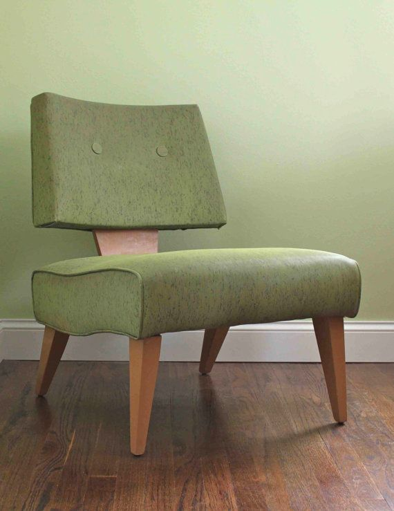 Mid Century Chair Green Retro Mod Furniture Side Chair. $225 + shipping  http://www.etsy.com/listing/92692967/mid-century-chair-green-retro-mod