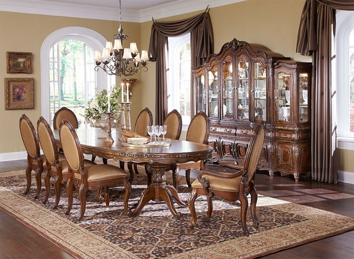 Good Lavelle Melange 9 PC Oval Pedestal Dining Set By Michael Amini (Table And 8  Chairs)