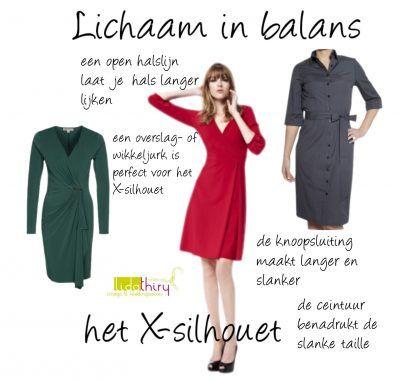 Een jurk voor het X-silhouet moet je taille laten zien en gemakkelijk over je rondingen glijden. Zie hier de ideale jurk voor het X-silhouet