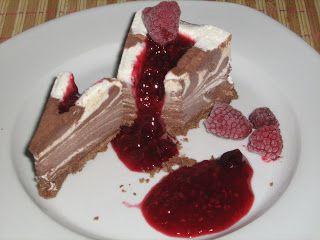 Csokis-vaníliás zebra parfé torta