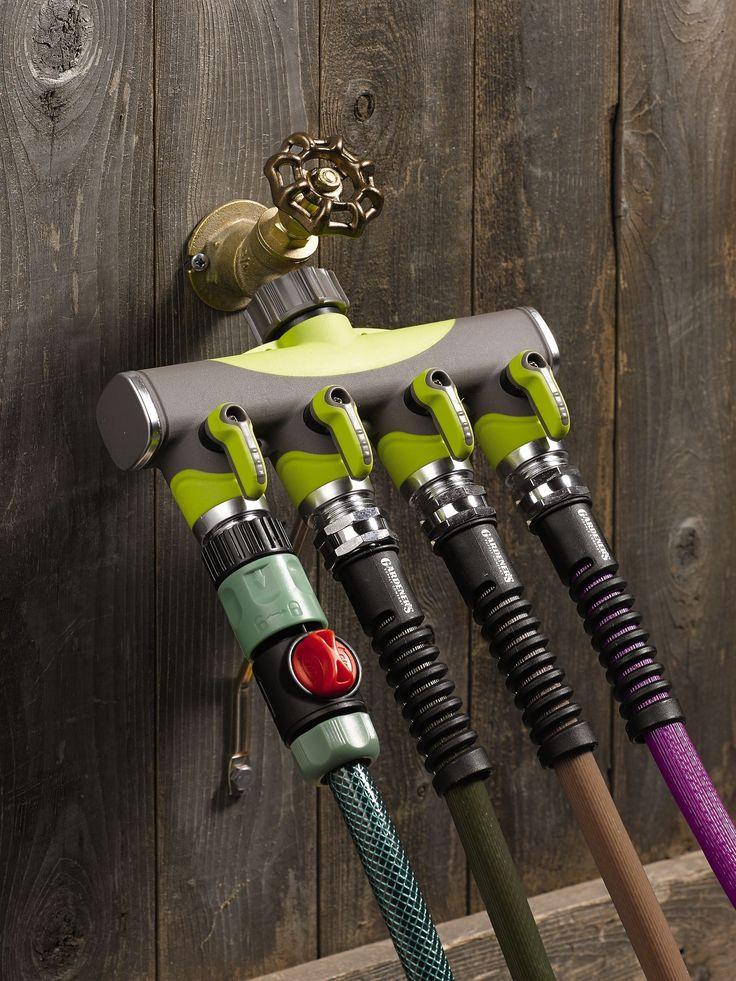 Hose Splitter: 4-Way Tap Adapter for Garden Hoses | Gardeners.com