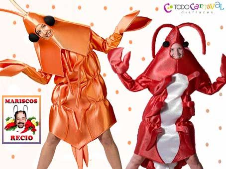 Disfraz de #gamba o #gambon  www.todocarnaval.com
