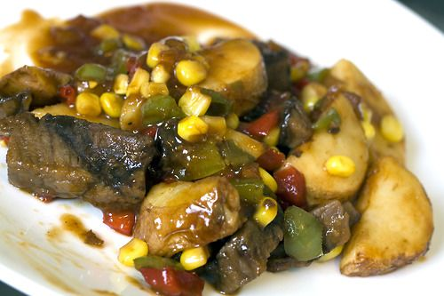 Healthy Choice Cafe Steamers: Grilled Whiskey Steak