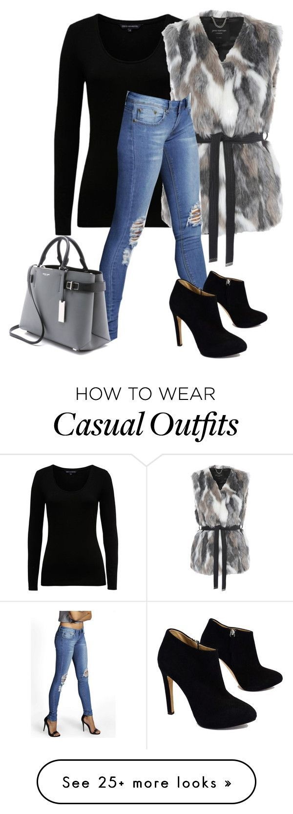 Winter Casual by billi29 on Polyvore featuring French Connection, Jane Norman, Giuseppe Zanotti and Michael Kors