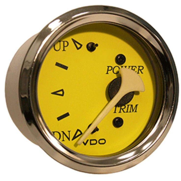 VDO Allentare Yellow-Blue Trim Gauge - For Use w-Mercury-Volvo-Yamaha 2001+ Engines - 12V