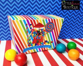 Favor del partido de la máquina del gumball, personalizada favor Tienda dulce, cajas personalizadas, caja, caja a Favor de la máquina del Gumball, fiesta de cumpleaños, caja de regalo