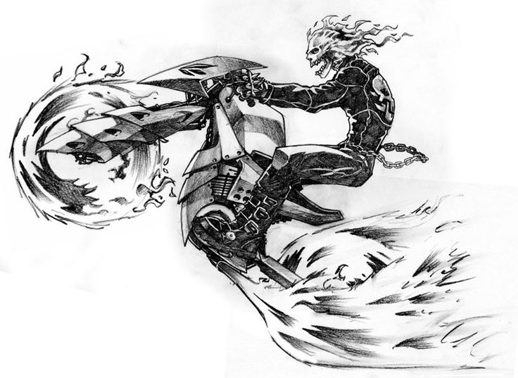 Ghost Rider's New Bike by andinobita on DeviantArt