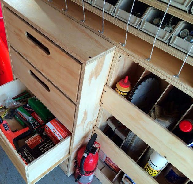Mobile wood shop based on Ron Paulk's design. Built by Alan #workbench #paulk…