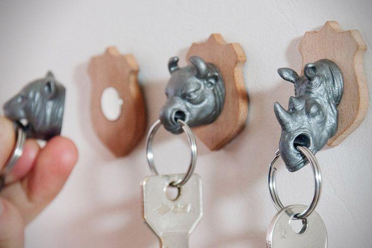 Animal Head Key Holders