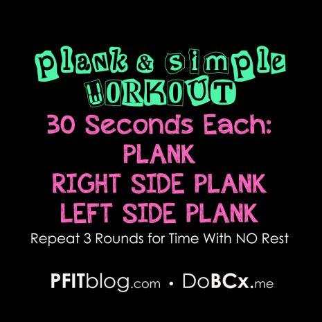 Plank Workout Versuche die 3 Runden ohne Pause durchzustehen. Wenn du das schaffst, erhöhe von 30 auf 40 Sekunden usw. bis du 1 Minute je Seite schaffst und das mal 3 Runden! (Unteren Arm anwinkeln und auf Ellenbogen stützen, unteres Bein stützt auf Knie, oberes Bein angehoben)