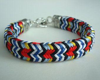 Bright bracelet / Braided bracelet / Colorful bracelet / Boho bracelet / Hippie bracelet / Bracelet for her / Japanese style / Bright gift /