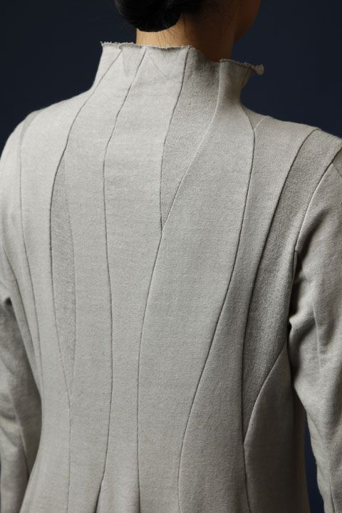 Wavy Panelled Jacket - creative pattern cutting; sewing inspiration; close up fashion details // Jurgen Lehl