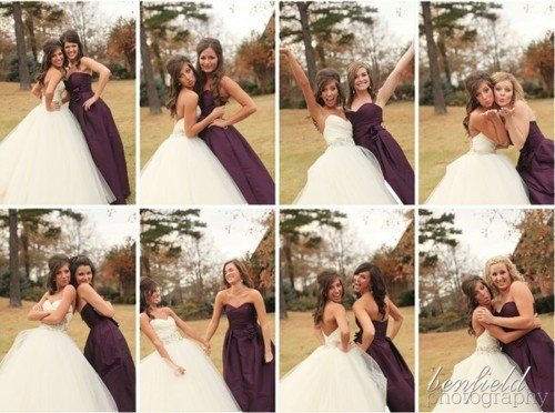A different pose with every bridesmaid and have them put together like so!