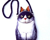 CAT Wet Felted Purse