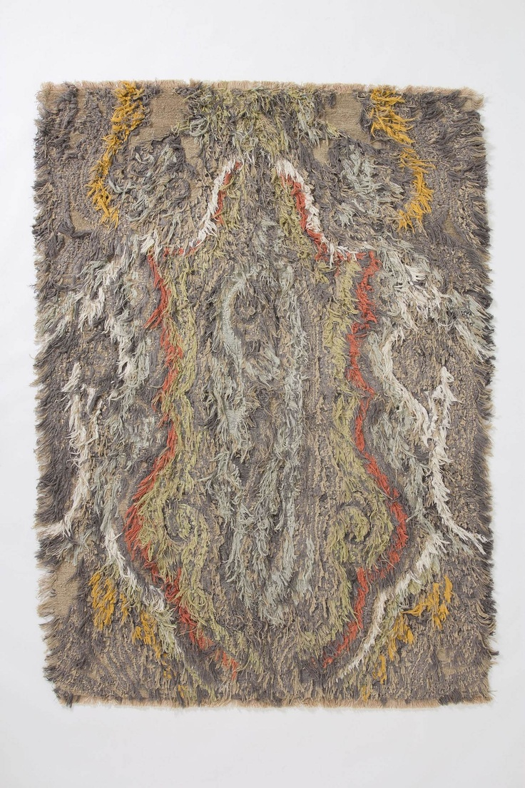 a diy hooked rug could look nifty with a paisley pattern via Shagged Paisley Rug - Anthropologie.com