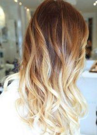 омбре на русые длинные волосы 1