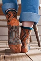 Fabulous cozy Tunisian Crochet Socks #Falling4Fall Crochet  ZigZag Socks by Patsy Harbor