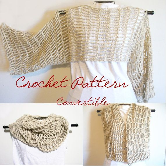 Free Crochet Pattern Cropped Sweater : Cropped Sweater Crochet Pattern Convertible Cowl Scarf ...