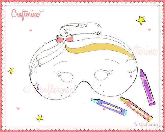 Printable Color and Create Ballerina Mask Kit for by Crafterina, $2.50  www.Crafterina.Etsy.com