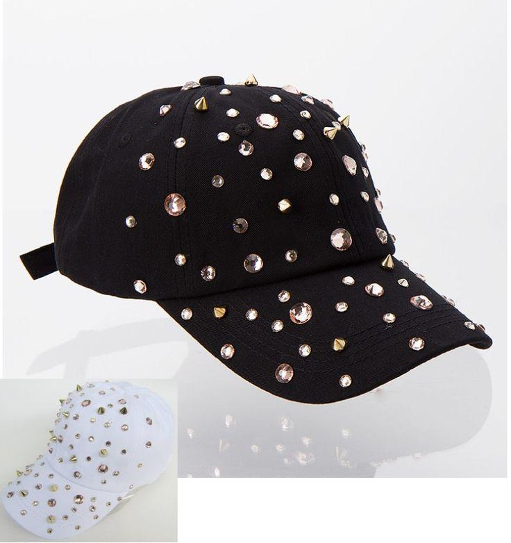Горячие продажи горный хрусталь спайк шпильки хип-хоп snapback шляпы для женщины женщина новый бренд женского спорта бейсболка открытый девушка gorras